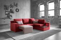 3 soluzioni per arredare con un divano rosso